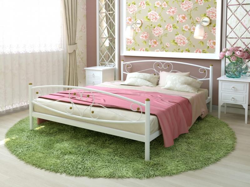 Кровать Каролина Plus белая