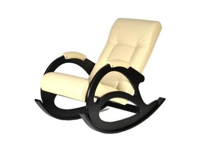 Кресло-качалка К5-4 Экокожа Бежевая