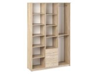 Шкаф комбинированный Дуэт Люкс 1500х450х2300 с зеркалом Дуб Сонома светлый