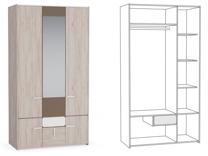 Шкаф для одежды Элен 300 1182х554х2214