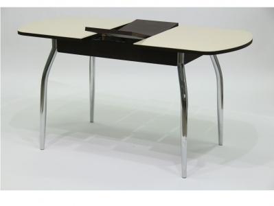 Стол Гала 1 лдсп венге + стекло песочное