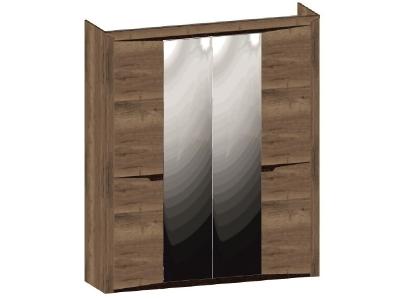 Шкаф 4-х дверный Гарда Дуб галифакс Табак 1970х520х2300