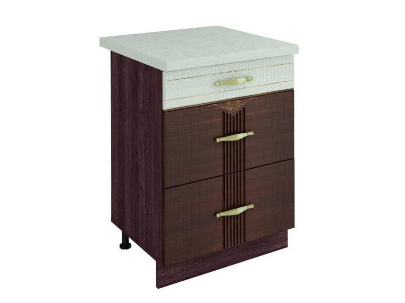 Стол с 3 ящиками-метабоксы 11.66 Каролина 600х530х820