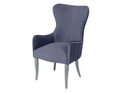 Кресло Лари серое опоры белые