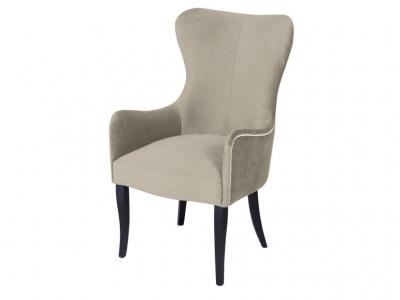 Кресло Лари ваниль опоры венге