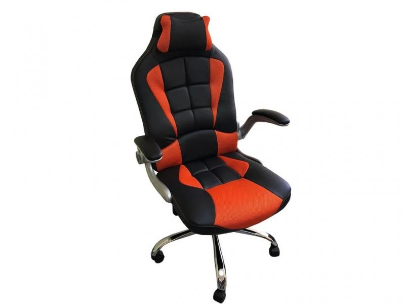 Компьютерное кресло 108 RC черный-оранжевый