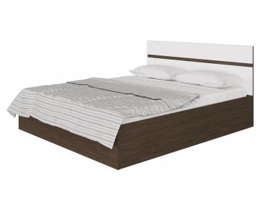 Кровать Ненси с ПМ Венге-Белый глянец