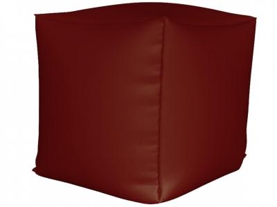 Пуфик Куб мини нейлон бордовый