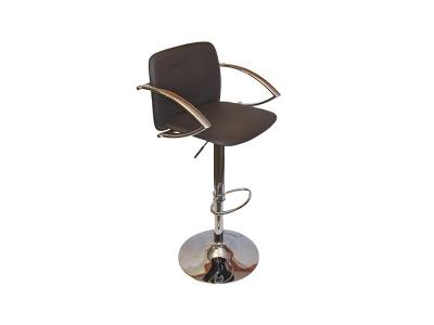 Барный стул Лого LM-3019 коричневый со спинкой и подлокотниками