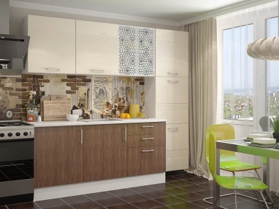 Кухонный гарнитур Европа винтаж - ваниль Люкс