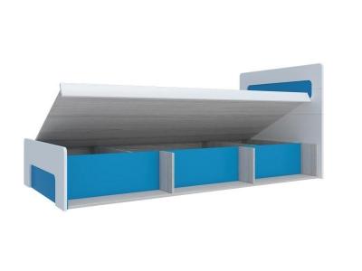 Кровать с подъемным механизмом Палермо-3 Юниор синяя вставка 960х900х2048 мм