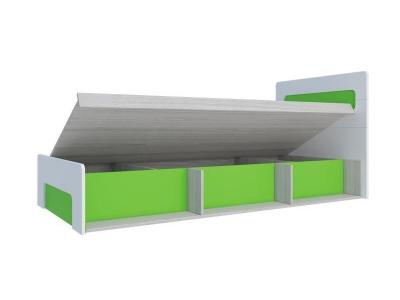 Кровать с подъемным механизмом Палермо-3 Юниор зеленая вставка 960х900х2048 мм