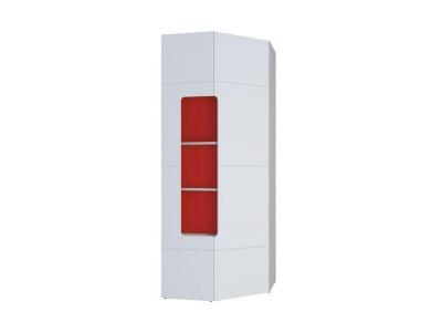 Шкаф угловой с полками Палермо-Юниор красная вставка 823х2110х818 мм