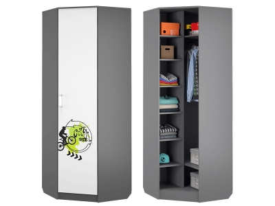 Шкаф для платья и белья угловой Граффити