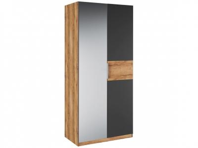 Шкаф 2 двери зеркало Рамона Р 1.0.8 Дуб кельтский/Черный
