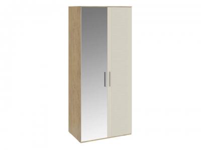 Шкаф для одежды с 1 глух. и 1 зерк. дверями Николь СМ-295.07.005 L Бунратти, Бежевый