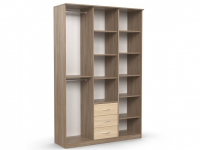 Шкаф комбинированный Дуэт Люкс 1500х450х2300 венге