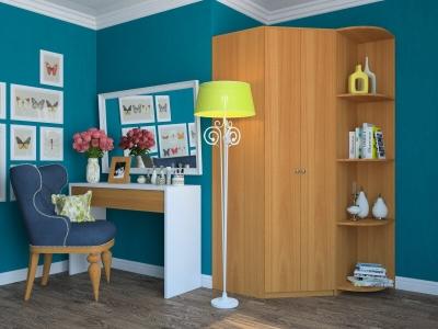 Угловой шкаф Мария с угловым элементом миланский орех