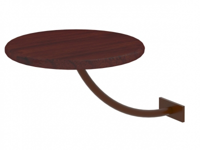 Полка прикроватная круглая Милсон коричневая