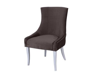 Кресло Марцио коричневое опоры белые