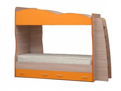 Кровать детская двухъярусная Юниор-1.1 Оранжевый